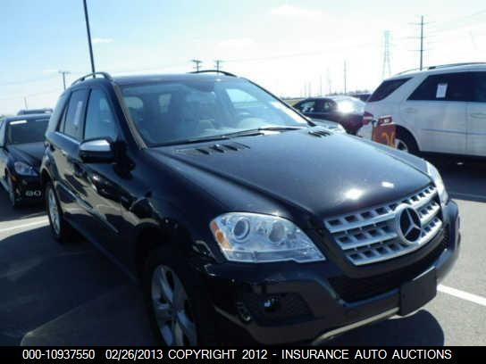 2010 Mercedes-Benz ML350, 10937550 | IAA-Insurance Auto Auctions
