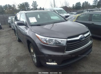 2015 TOYOTA HIGHLANDER HYBRID LTD PLATINUM
