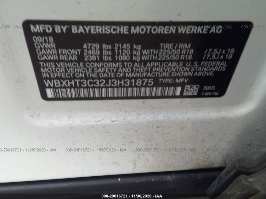 2018 BMW X1 | Vin: WBXHT3C32J3H31875