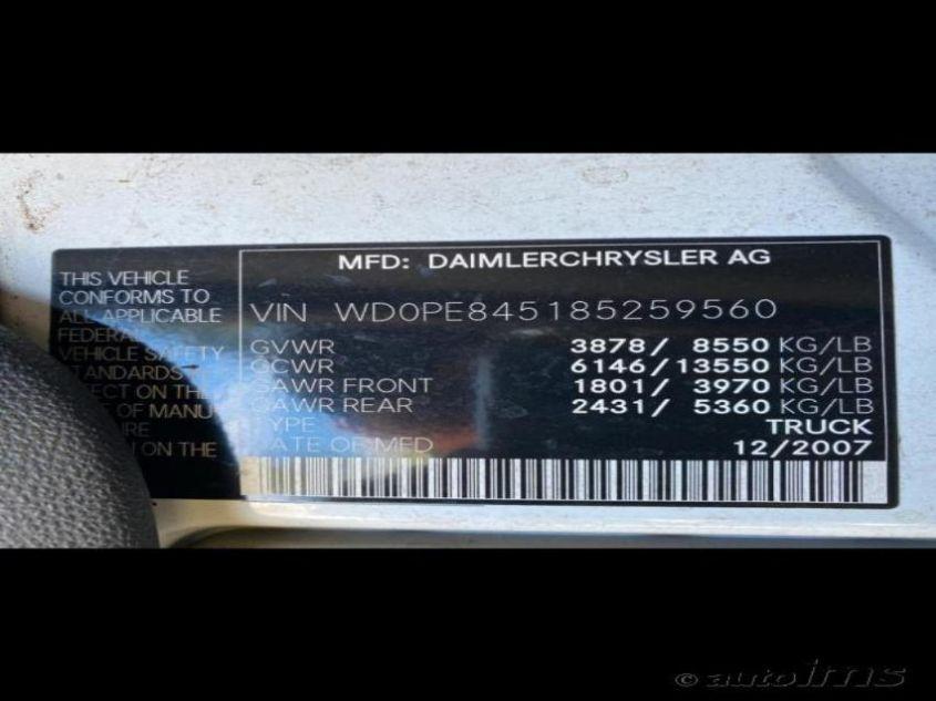 2008 Dodge SPRINTER   Vin: WD0PE845185259560