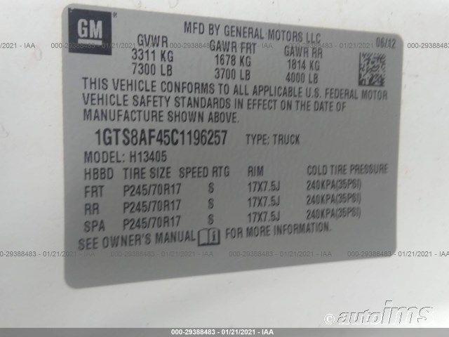 2012 GMC SAVANA | Vin: 1GTS8AF45C1196257