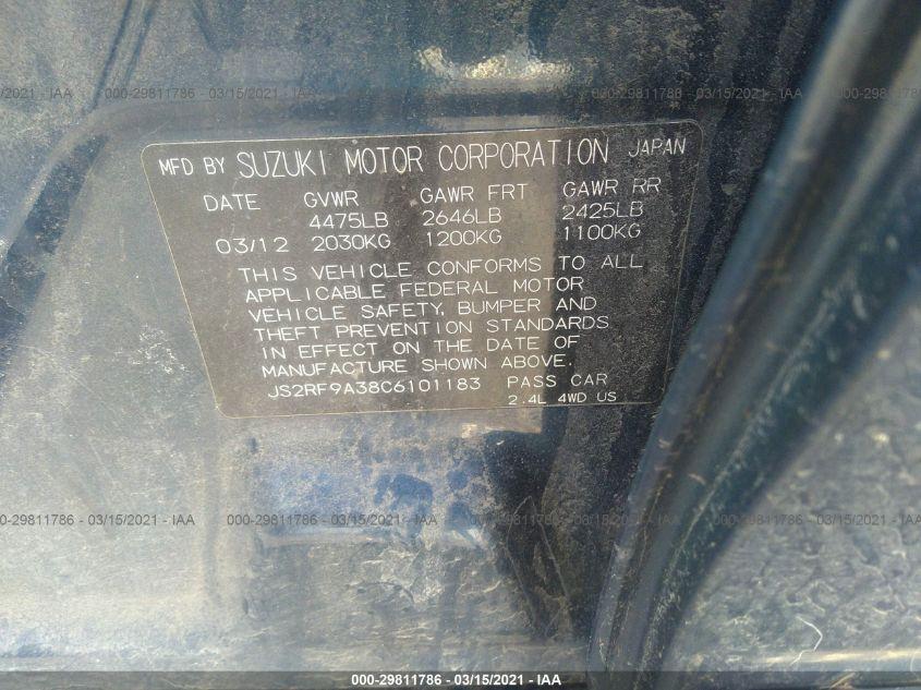 2012 Suzuki KIZASHI | Vin: JS2RF9A38C6101183