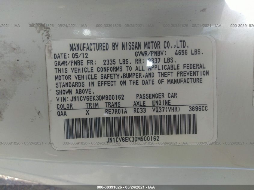 JN1CV6EK3DM900162